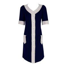 1967 Courreges Couture Navy-Blue