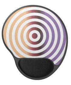 Colorful concentric circles gel mouse pad $14.35 *** Colorful concentric circle design pattern *** concentric circles - rings - rim - circle - concentric - metal - metallic - purple - gradient - shades - gel mouse pad