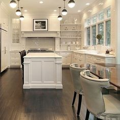 Love the clean white and simplicity of this kitchen.