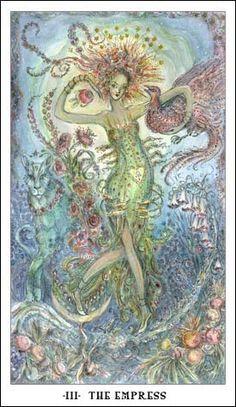 Paulina Tarot ~ The Empress. My post on the Paulina Tarot at tarotbyshonna.blogspot.com