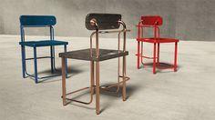 Trombone - dining Designer : Yangsue Pyo Material : wood, metal Dimension : chair W 450, H 740, D 477 table W 1500, H 750, D 900BU Atelier www.BU-Atelier.com Bemiel union www.Bemiel.com  Phone. +82-2-325-3254  e-mail. bemiel@bemiel.com