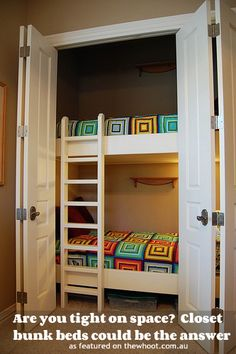 closet bunk beds