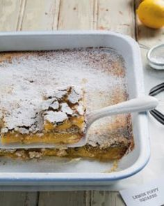 Our lemon poppy squares are delicious and can be whippedhellip Maple Bacon, Ginger Beer, Cook At Home, Poached Eggs, Dry Yeast, Tray Bakes, Raisin, Cooking Time, Poppy