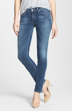 Citizens of Humanity 'Racer' Low Rise Skinny Jeans (Byron Bay) available at #Nordstrom