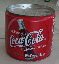 Rare vintage Coca Cola Coke tin bank  France by mikestreasurez, $289.00