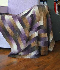 ten stich blanket plaid tricot envers endroit