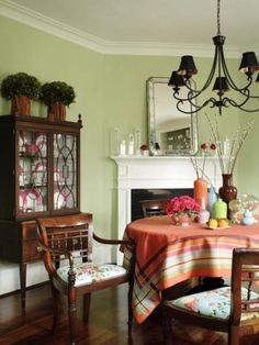 Like this color for the dining room