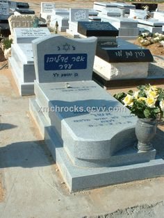 Jewish Tombstone - China jewish tombsotne;grey granite tombstone;monument