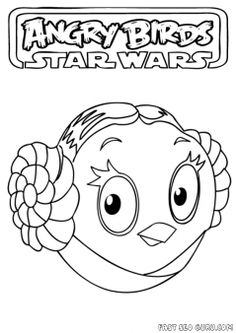 Angry Birds Star Wars Coloring Pages  Birthdays  Pinterest