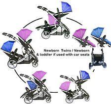 Duellette 21BS Twin Travel system newborn Double pushchair buggy Tandem stroller