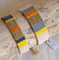 yellow-handwocevn-bracelets - MURAVITO