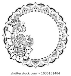 Circular pattern in form of mandala with peacock for Henna, Mehndi, tattoo, decoration. Decorative ornament in ethnic oriental style. Coloring book page. Henna Designs, Tattoo Designs, Peacock Mehndi Designs, Mehndi Tattoo, Henna Mehndi, Mandala Art Lesson, Mandala Drawing, Paisley Drawing, Mandala Tattoo Design