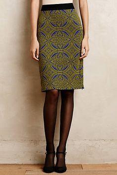 Medallion Pencil Skirt