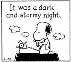 Don't start your book like Snoopy...