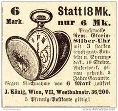 Original-Werbung/ Anzeige 1907 - SILBER UHR / KÖNIG - WIEN - Ca. 45 X 45 Mm - Werbung