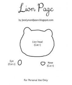 Lion Quiet Book Page Template