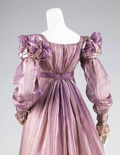 Ball Gown, detail, American, ca. 1820, Brooklyn Museum Costume Collection at The Metropolitan Museum of Art.