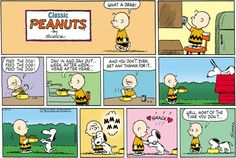 "Old ""Peanuts' cartoon by Charles M. Schulz"