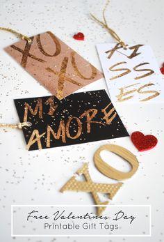 FREE Valentines Day Printable Gift Tags :: Friday's Fab Freebie :: Week 36 - brepurposed