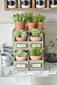 DIY Planter Drawers -