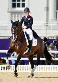 Charlotte Dujardin and Valegro.  She is brilliant, and he is just perfect.   # Pin++ for Pinterest #