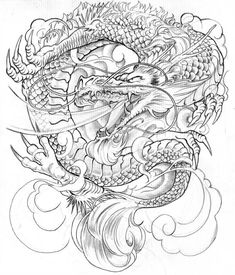 Drawn chinese dragon japanese dragon - pin to your gallery. Explore what was found for the drawn chinese dragon japanese dragon Dragon Japanese Tattoo, Japanese Dragon Tattoos, Japanese Tattoo Art, Japanese Tattoo Designs, Japanese Sleeve Tattoos, Et Tattoo, Type Tattoo, Tattoo Motive, Free Tattoo Designs