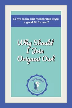 Why Should I Join Origami Owl