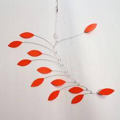 Kinetic Mobile Sculpture - Orange Vine Hanging Wire Mobile - Calder Inspired - 109898547. $49.00, via Etsy.