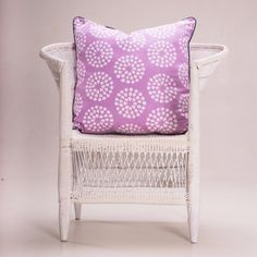 Batik Cushion - 'Cebi Circles' Amethyst