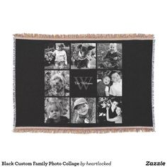 Black Custom Family Photo Collage