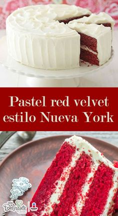 Pastel red velvet estilo Nueva York