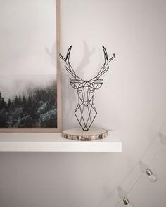 Geometric Deer, Geometric Wall Art, Geometric Drawing, Deer Wall Art, Hanging Wall Art, Deer Decor, Baby Decor, Westerns, Deer Statues