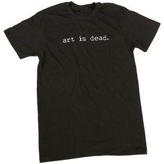 Bo Burnham | Art Is Dead Shirt ❤ liked on Polyvore