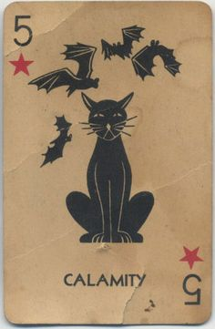 vintage playing card of cat, via 4.blogspot.com