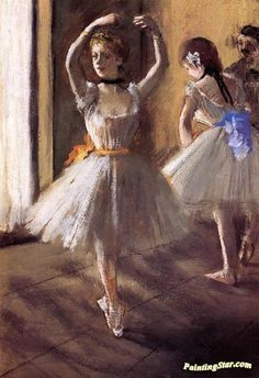 Two Dancers in the Studio Artwork by Edgar Degas Hand-painted and Art Prints on canvas for sale,you can custom the size and frame