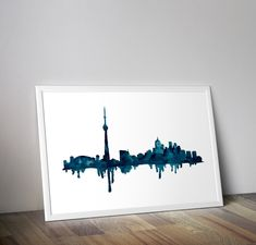 Toronto Skyline Print, Toronto Poster, Original fine Art print, CN tower, Watercolor painting, home decor, by TravelBugStudio on Etsy