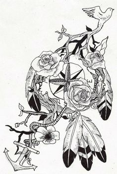 compass dream catcher tattoo by ~wolfluv95 on deviantART want ...