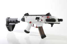 Cerakoted White CZ Scorpion Evo 3Loading that magazine is a pain! Get your Magazine speedloader today! http://www.amazon.com/shops/raeind