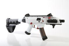 Cerakoted White CZ Scorpion Evo 3
