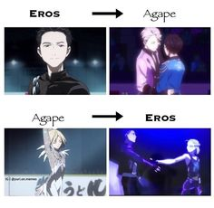 Katsuki's Agape story is way better than his Eros. It's beautiful how the change happened in his routine. And Yurio... kinda scary... from soft and cuddly to just ummm, what's the word?