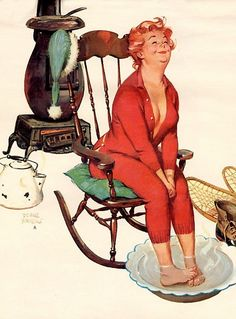 Hilda, Duane Bryers, illustration, pin-up, pin up, curvy, chubby, 1960s