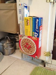 Couldn't find a magazine file, so I trimmed up a cereal box, grabbed the staple gun, and there you have it.