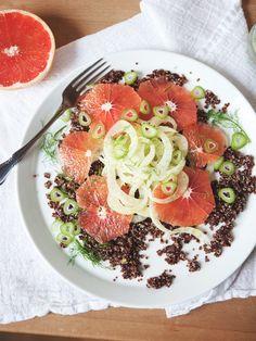 Superfood Recipes: Grapefruit, Fennel, & Quinoa Salad