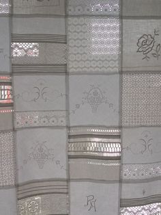 Classic Curtains - beautiful GARDINE by CREUTZBURG vintage linen - a singular product by monika-creutzburg on DaWanda Cottage Curtains, Shabby Chic Curtains, Lace Curtains, Shabby Chic Decor, Rideaux Shabby Chic, Doilies Crafts, Creative Textiles, Curtain Patterns, Linens And Lace