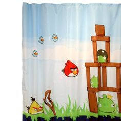 Angry BirdsTM 72 Inch X Fabric Shower Curtain