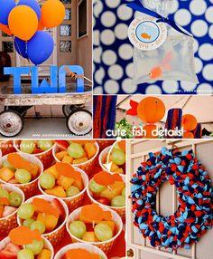 polka dot goldfish 2nd birthday party