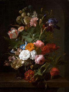 12 Famous Flower Paintings, from Monet to Mondrian Famous Flower Paintings, Happy Paintings, Piet Mondrian, Gustav Klimt, Flower Vases, Flower Art, Vanitas Paintings, Dutch Still Life, La Haye