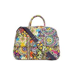 VERA BRADLEY Grand Traveler RIO Luggage Travel Carry On Bag Tote $120 SPRING '15 #VeraBradley #TotesShoppers