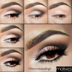 THE 15 BEST SMOKEY EYE MAKEUP TUTORIALS - #eyetutorial #eyemakeup #eyes #eyeshadow #fashionsy - bellashoot iPhone & iPad app, bellashoot.com