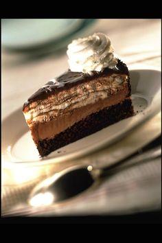 Chocolate Tuxedo Cheesecake at The Cheesecake Factory<3